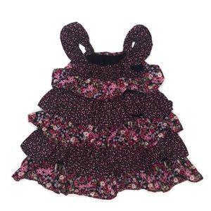 Baby gap ruffle floral dress petit flowers 12-18 m